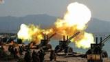 사진은 북한 포병부대들의 포사격대항경기 모습.