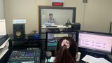 대북라디오 방송을 제작하고 있는 국민통일방송 직원들.