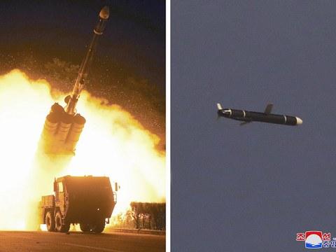 북한이 지난 주말 발사한 신형 장거리 순항미사일.