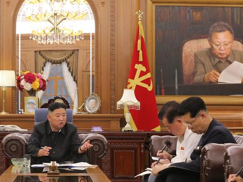 김정은 북한 노동당 총비서가 지난 7일 당 중앙위원회와 도당위원회 책임간부 협의회를 소집한 모습.