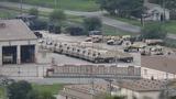 3일 경기도 동두천시 주한미군 캠프 케이시에서 미군 차량이 대기하고 있다.