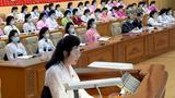 북한 노동당 외곽조직인 '사회주의여성동맹' 제7차 대회 모습.