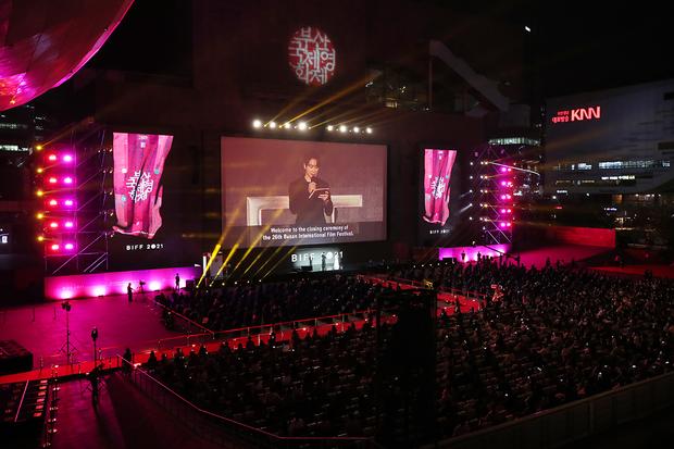 15일 오후 부산 해운대구 영화의전당에서 제26회 부산국제영화제(BIFF) 폐막식이 열리고 있다.