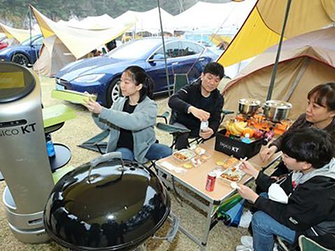 사진은 강원 원주시 오크글램핑캠핑장.
