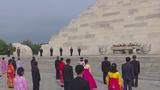3일 북한에서 개천절 기념행사가 단군릉 앞에서 진행되는 모습.