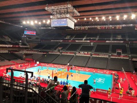 도쿄 올림픽 한국 배구대표팀 경기.