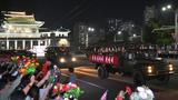 북한 정권수립 73주년 경축 민간 및 안전무력 열병식 참가자들이 지난 9일 평양시민들의 열렬한 환영을 받으며 수도의 거리들을 통과했다고 조선중앙통신이 10일 보도했다.