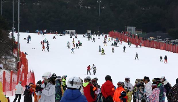 한국에서 경험한 신나는 첫 스키