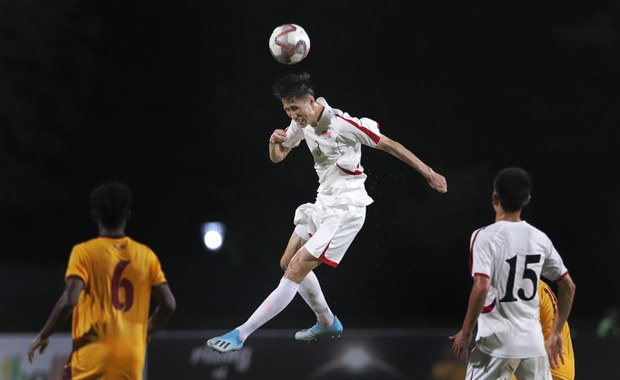 지난 2019년 열린 월드컵 지역 예선 북한-스리랑카전 모습.